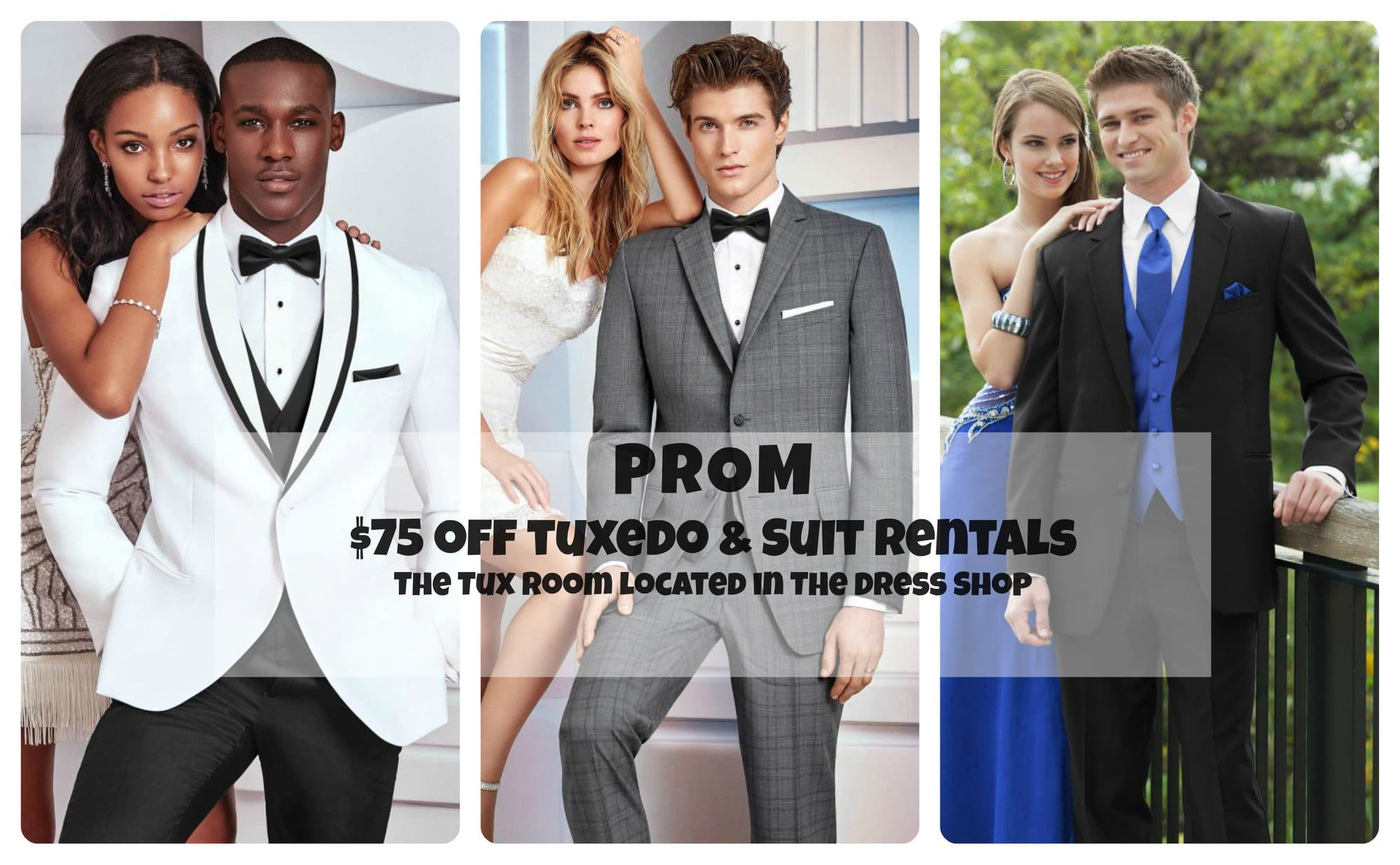 The Dress Shop Featuring The Tux Room Prom Special