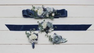 Wedding Blue flowers