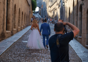 Wedding Photoshoot down alley